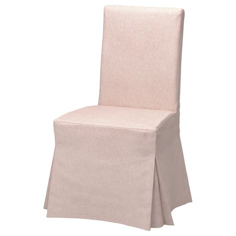 henriksdal chair cover long gunnared pale pink ikea