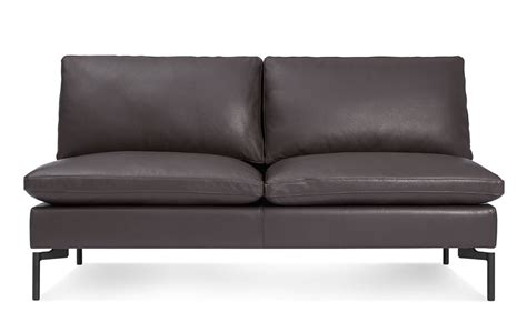 Armless Leather Loveseat by New Standard Armless Leather Sofa Hivemodern