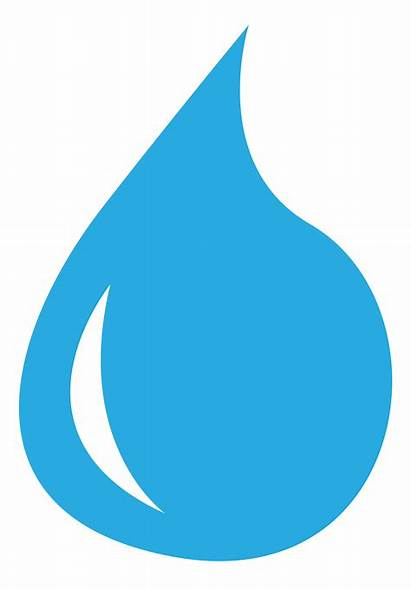Drop Water Clip Cliparts Clipart Icon