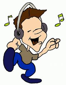 Listening to music clipart free images - Clipartix