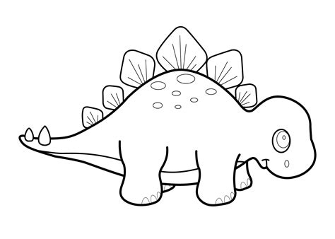 Cute Dinosaur Coloring Pages For Kids Download