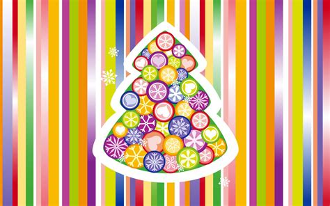 christmas tree colorful wallpapers hd wallpapers id 9214