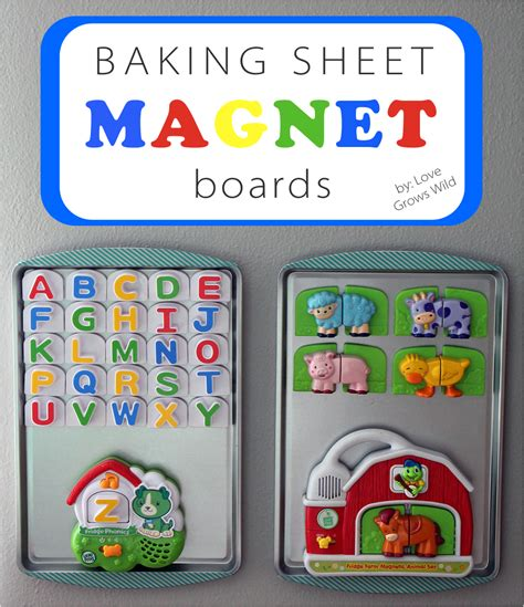 magnet sheet baking boards dollar magnets diy sheets activity wild board playroom tree grows gifts wall refrigerator kid magnetic cookie