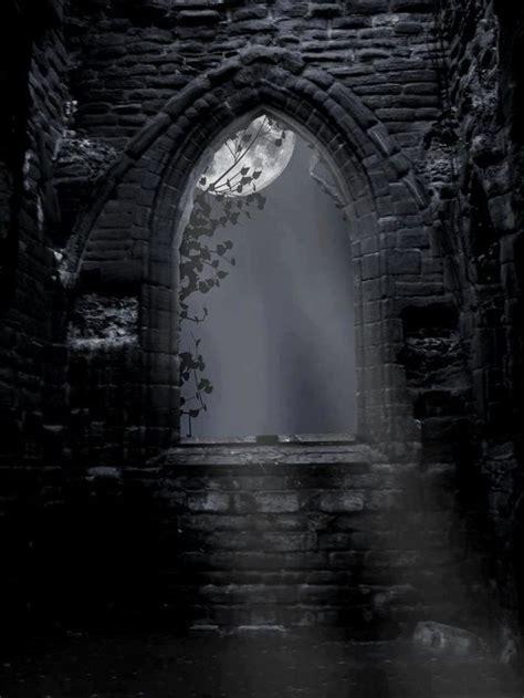 romantic view  moon shining   window