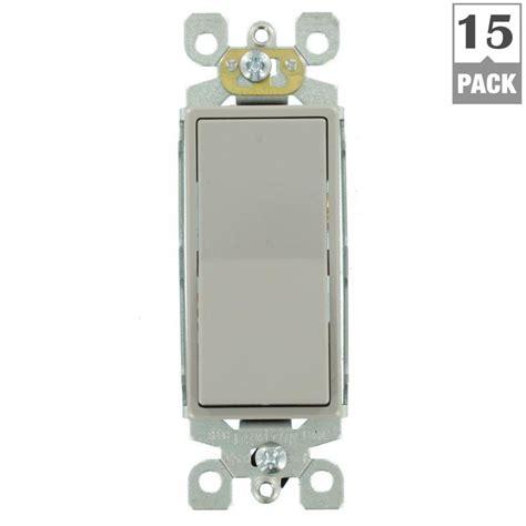 Leviton Decora Amp Way Rocker Switch Gray Pack