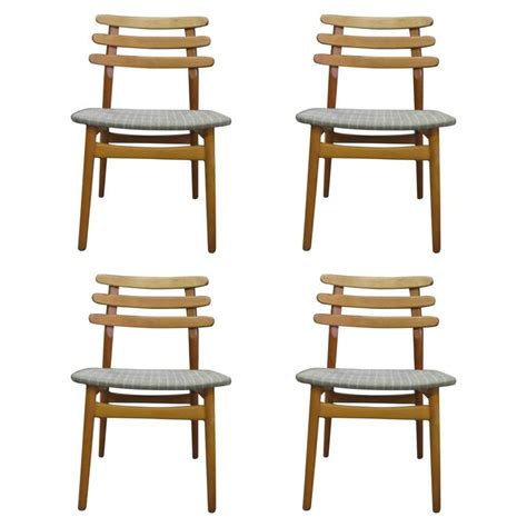 poul volther ladder back dining chairs in beech model j48
