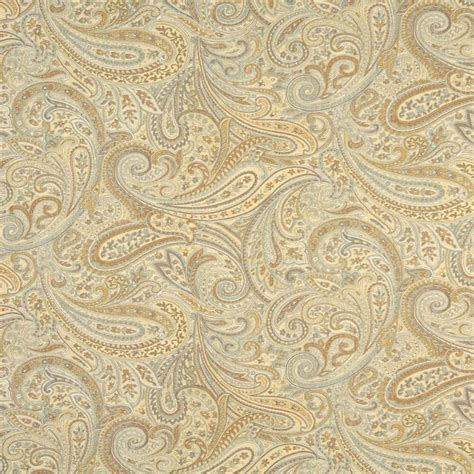 Blue Paisley Upholstery Fabric by F325 Gold Blue Bronze Paisley Abstract Jacquard Upholstery