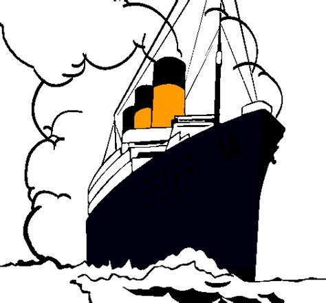 Barco De Vapor Dibujo by Dibujo De Barco De Vapor Pintado Por Titanic En Dibujos