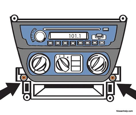Nissan Sentra Radio Removal Procedure