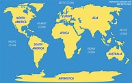 5 Oceans of the World | The 7 Continents of the World
