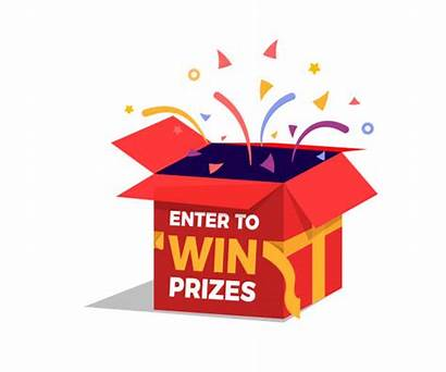 Prize Box Vector Raffle Prizes Win Enter