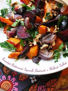 Roasted Butternut Squash, Beetroot & Walnut Salad - My