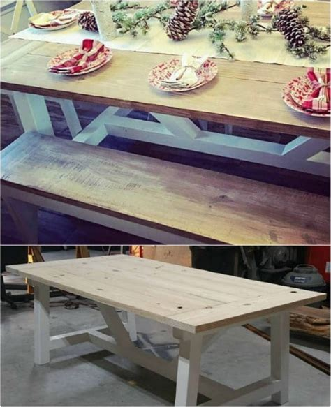 rustic diy picnic tables   entertaining summer