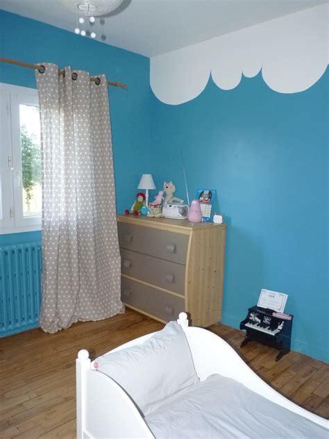 chambre peinture bleu peinture chambre fille decoration maison peinture