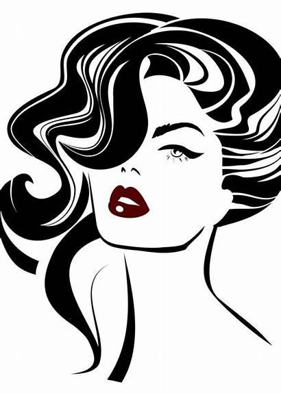 Lips Clipart Woman Face Hair Clip Metal