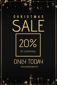 Christmas Promotion Poster Christmas Sale Retail Poster Flyer Template Postermywall