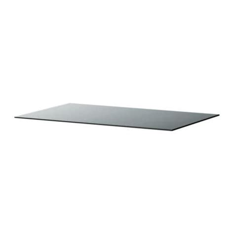 plateau de bureau en verre ikea malm plateau en verre gris transparent 160x48 cm ikea