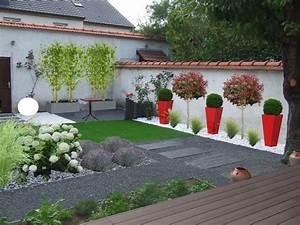 jardin paysager moderne amazing jardin paysager moderne With amazing amenagement jardin avec pierres 15 parement mur exterieur 1