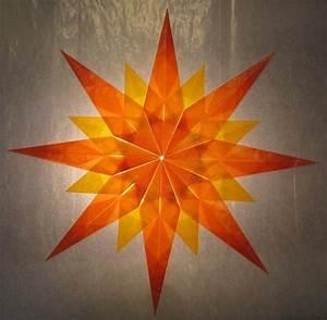 Weihnachtsstern Selber Basteln : orange gelber stern 16 zacken sterne aus ~ Lizthompson.info Haus und Dekorationen