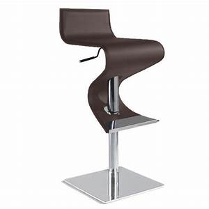 Tabouret De Bar Cuir : tabouret de bar v2 design chocolat assise cuir achat ~ Dailycaller-alerts.com Idées de Décoration