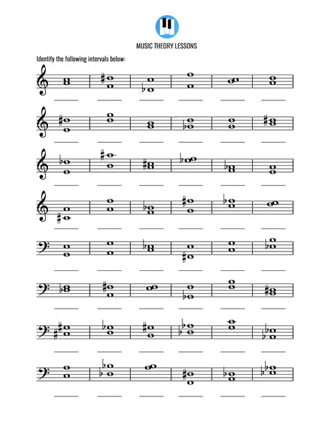 The difference in pitch between two notes is called the interval. Intervals Activity 2 - Music Theory Lessons
