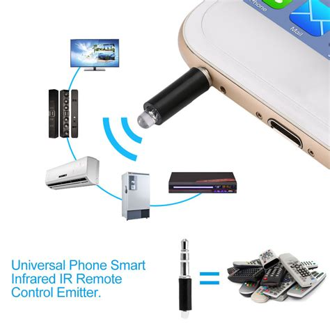 universal phone smart infrared ir remote emitter tv stb dvd fe ebay