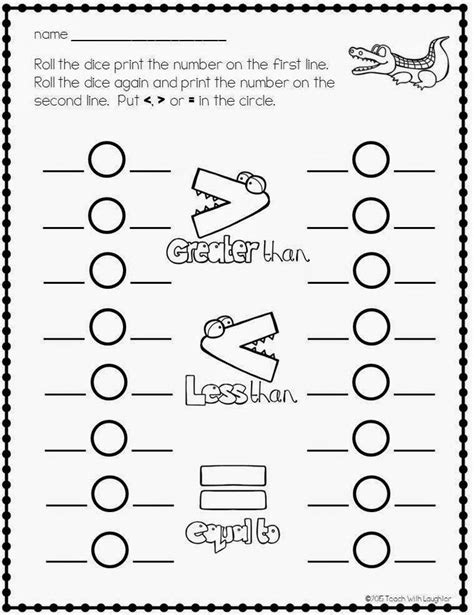 greater     worksheets math