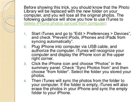 how to remove synced photos from iphone how to delete iphone photos synced from computer