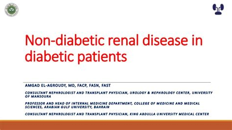 Non Diabetic Renal Disease With Without
