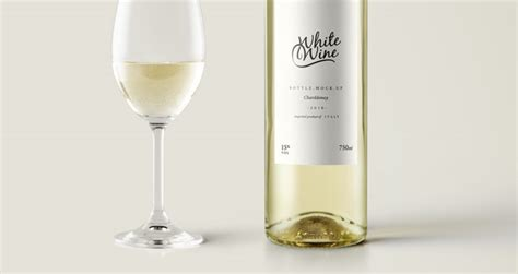 psd white wine bottle mockup vol psd mock  templates pixeden