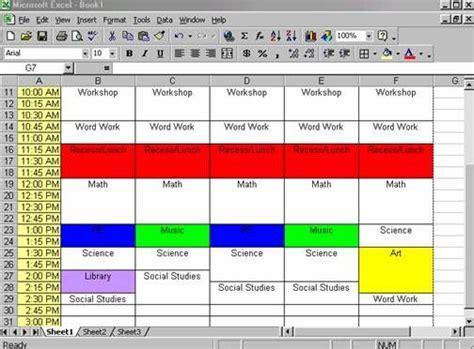 create  schedule  excel  easy class schedule