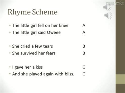 9th Englit Rhyme Scheme Schooltube