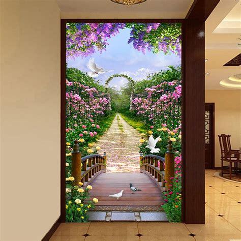 custom  photo wallpaper european style rose flower small