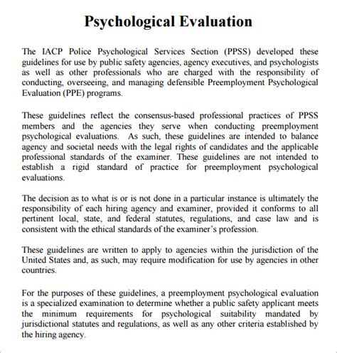 psychiatric evaluation template 8 sle psychological evaluation templates to sle templates