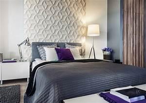 3d Wandpaneele Schlafzimmer : 25 ideen f r attraktive wandgestaltung hinter dem bett ~ Michelbontemps.com Haus und Dekorationen