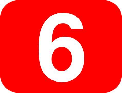 Number 6 Red Background Clip Art At Clker.com