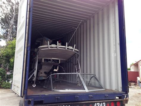 Boat In A Shipping Container by Boat Shipping Methods Boat Export Usa