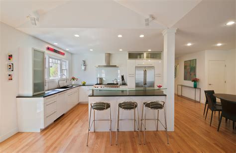 Kitchen Lighting Ideas Over Island - kitchen island with columns kitchen contemporary with sloped ceiling open kitchen