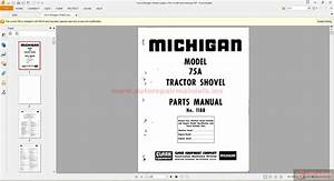 Volvo Michigan Wheel Loaders 75a  1188 Parts Manual