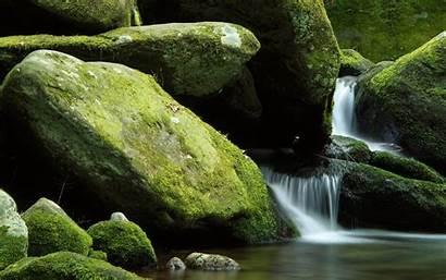 Nature Landscape Waterfall Stream Rock Moss Exposure