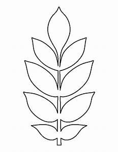 Ash leaf pattern. Use the printable outline for crafts ...