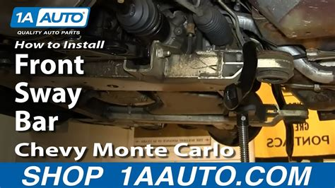 replace front sway bar   chevy monte carlo