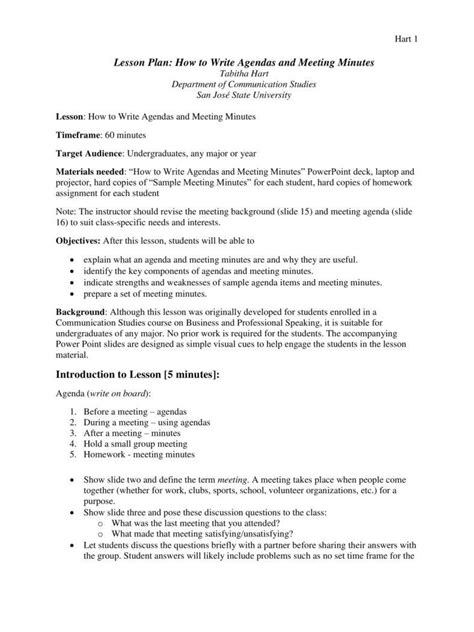 formal minutes   meeting templates