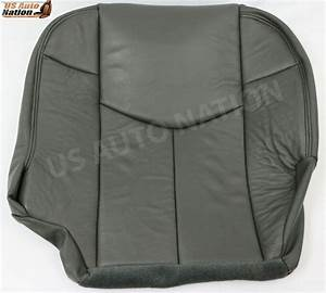 2002 Chevy Avalanche Driver Bottom Leather Seat Cover In