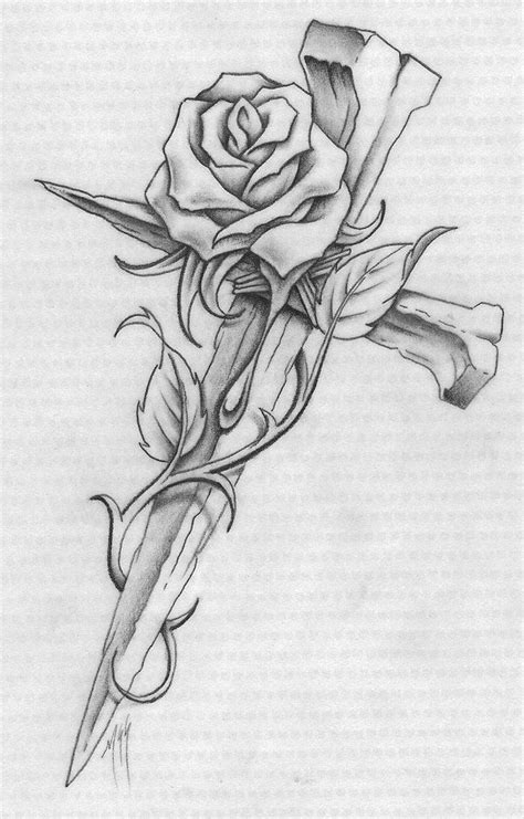 Cross Designs | Cross and rose Colouring Pages | mom's tribute ideas | Tattoos, Cross tattoo