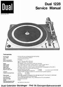 Dual 1228 Turntable Service Manual