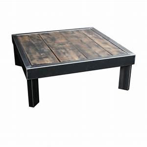 Pied De Table Basse Metal : table basse bois pied metal ~ Teatrodelosmanantiales.com Idées de Décoration