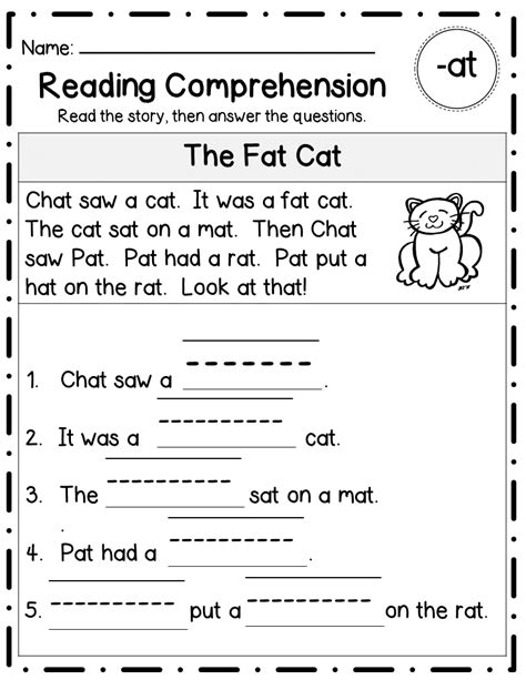 short vowel word families reading comprehension word