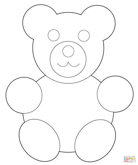 teddy template gummy clipart teddy outline pencil and in color gummy clipart teddy outline