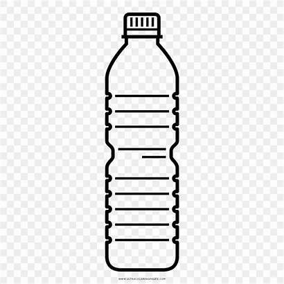 Bottle Water Plastic Transparent Clipart Drawing Bottles